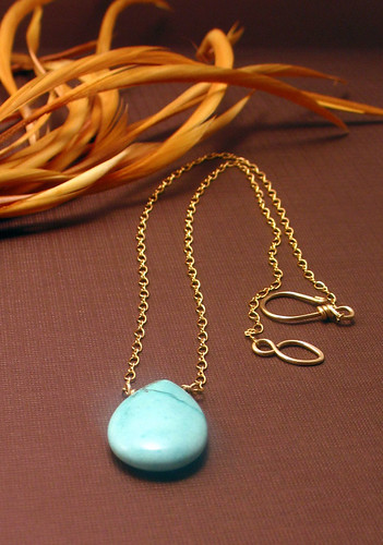 Necklace - Turquoise Pendant