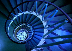 thoughts from the dentist's chair (overthemoon) Tags: blue architecture stairs wow spiral switzerland interestingness snail lausanne explore staircase trophy winding dizzy popular escargot caracol eyecandy theeye gettyimages dentists pritzker 100f colimaçon pointandclick alteredcolours utatafeature 1mill 1on1photooftheday mywinners abigfave bfv50 generouscomments visiongroup flickrjobdiff5 utata:color=black goldenphotographer wowiekazowie 1on1photoofthedaymar2007 bestofr avedelagare ohmygoodnesswhatalotofcommentsandviewsneverhadsomanyfavesovernight 1on1podmention32207 motifd jesterschallengewinner bloggedbygatag thegoldenmermaid bestofblue onlyblu 6setspiral overthemoonportfolio