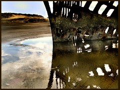 shipwreck reflection (jody9) Tags: ocean reflection beach oregon coast pacific shipwreck shore peteriredale firstquality magicdonkey flickrsbest impressedbeauty ultimateshot diamondclassphotographer flickrdiamond