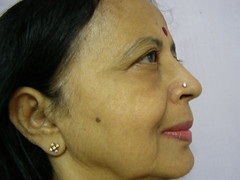 Day 125 -- These  Jewels ... (Kamala L) Tags: india selfportrait beautiful closeup profile earring nosering kam jewels kamala 365days noseringthefeminine