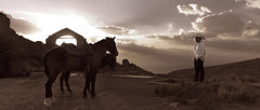 Ghost Town - Real de Catorce (Luis Montemayor) Tags: sunset sky horse clouds mexico caballo atardecer cielo nubes ghosttown myfavs realdecatorce 235 sanluispotosi pueblofantasma dflickr dflickr180307