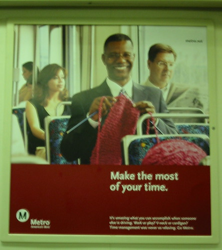 My favorite Metro ad -- on the Red Line