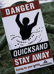 Quicksand (publicenergy) Tags: sign danger fence away safety your caring quarry stay peril quicksand aggregate