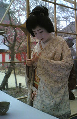 Geiko  'Katsuya' / Tea Ceremony (Marie Eve K.A. (away..)) Tags: flower colour tree sexy nature beautiful festival japan lady nokia kyoto shrine tea ceremony maiko geiko  beautifulwoman kimono teaceremony annual february  nokia6630 plumtree  nodate kitanotenmangu plumblossoms baikasai feb25 geishagirl kitanotenmangushrine    february25th     outdoorteaparty plumblossomsfestival plumflowersfestival