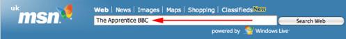 MSN UK Prefill Search Box Ad