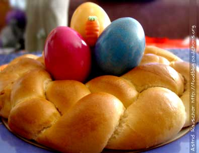 Waiter, there's something in my ... Easter Basket: Sweet Bread!
