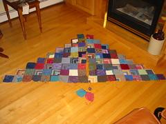 Sock Scrap Blanket WIP