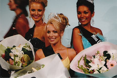 Laural Barratt, Sylvia Laurenson and Jessica Body, winning the top three prizes at Miss Universe New Zealand 2007. This image is copyright. Please do not steal it.