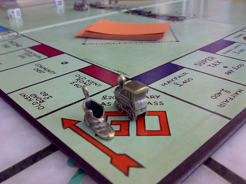 Monopoly - Collect £200 or £400?  Pic: Josh Russell