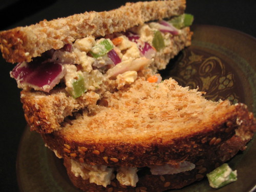 "Waldorf Style ""Chicken"" Salad Sandwich"