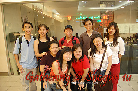 Group photo back from left:Lee yan & her BF, Kok Chew, Mun Wai, Elly; front from left:Lai Wah, Allicia & friends, Min Yin