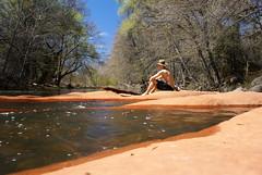 beaver creek (Jai-to-Z) Tags: travel trees red arizona cold water rock creek swim self travels perfect az roadtrip beaver timer idyllic heavenly