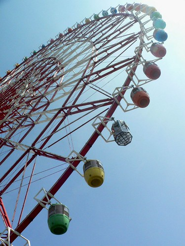 blue sky and wheel