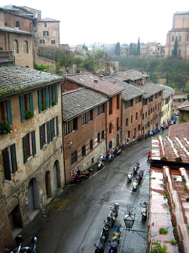 Siena in the rain (we will revisit this town in the sun later)