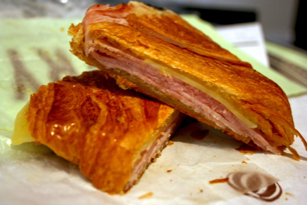 Pressed Ham and Cheese Croissant