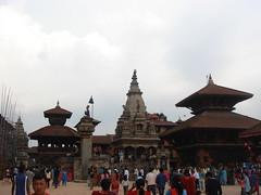 Bhaktapur Darbar Squar, Happy New Year 2064 (jk10976) Tags: nepal temple asia kathmandu happynewyear bhaktapur nepali firsttheearth jk10976 darbarsquar jkjk976