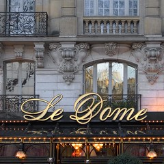 Rita Crane Photography: Paris / historic cafe / Haussman architecture / building / restaurant / Late Afternoon Reflections on Le Dome, Paris (Rita Crane Photography) Tags: paris france building taggedout architecture stock montparnasse stockphotography squarephoto 500x500 cafesociety pariscafe ledome paris75014 frenchcafe historiccafesofparis ritacrane superbmasterpiece restaurantfacade artistsofmontparnasse boulevarddemontparnasse 19thcenturyfacade modernartmovement ritacranephotography wwwritacranestudiocom historiccafeofparis visionquality cafefacade
