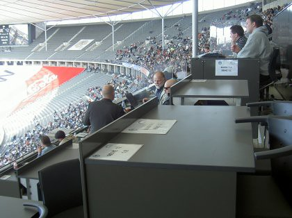 Pressetribüne im Olympiastadion