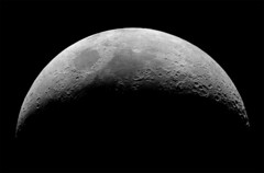 Moon Facing up through Celestron 1970's C8 (Thomas Shahan) Tags: sky moon night stars prime inch pentax 8 astro crescent telescope astrophotography schmidt dslr ist lunar dl celestron eyepiece opo c8 cassegrain terser opoterser