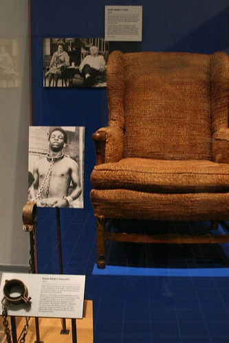 Archie's Chair with Kunta Kinte's Shackles....coincidence??