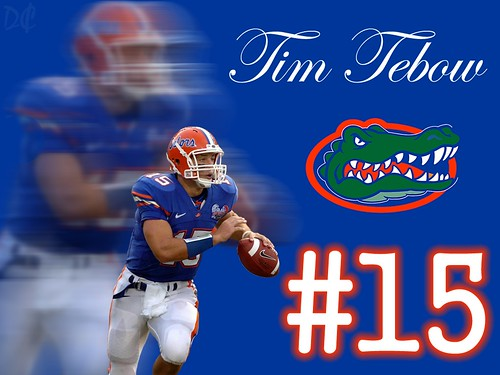 florida gators. Florida Gator #15 Tim Tebow