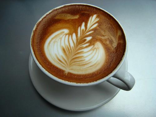 secangkir cappuccino
