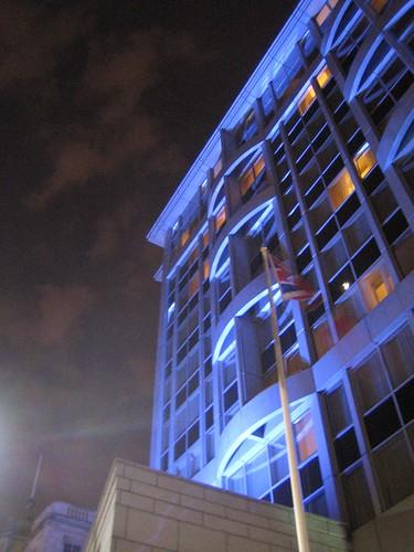Kensington Park Hotel at night