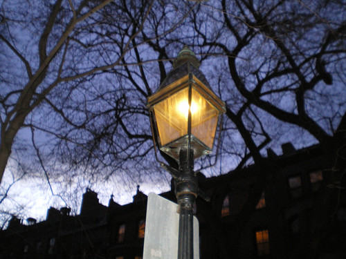 marlborough street's gas lamp post