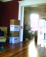 Movers just left. Home alone in new place for first time.