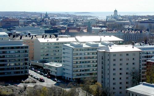 Vista de pájaro de Helsinki