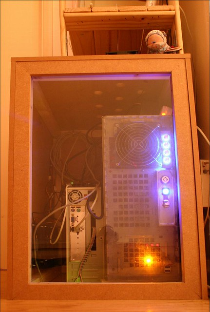 Server Cupboard - in use