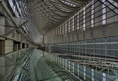 Tokyo International Forum - I (NavindaK) Tags: building glass japan metal architecture reflections tokyo hall steel forum tokyointernationalforum hdr marunochi tokyoforum