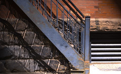 flight (Arthur Legardo) Tags: toronto stairs shadows fireescape masseyhall sonyalphadslra100