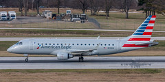 20160104_0224 (HarryMorrowPhotography) Tags: imagescopyrightofharrymorrowtradingasharrymorrowphotogr imagescopyrightofharrymorrowtradingasharrymorrowphotography n131hq american eagle operated by republic airlines embraer emb175 seen here port columbus oh very wintery day full snow showers jan 2016