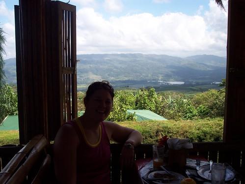 In a resturant in Costa Rica