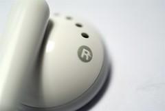 right iPod earphones (nicdalic) Tags: macro apple closeup mac ipod shuffle earphones thebiggestgroup sonyalphadslra100