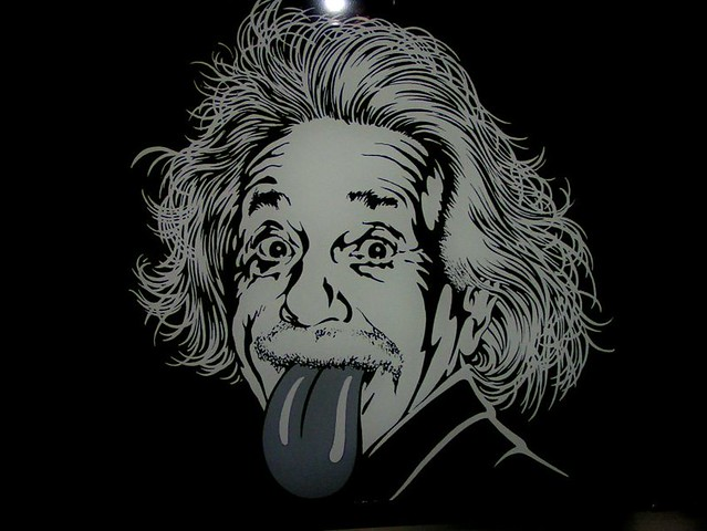 Einstein Sticking His Tounge Out
