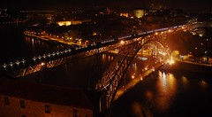 Bridges (ACPinho) Tags: reflection portugal night nikon porto douroriver arrbidabridge thisisportugal d80 nikonstunninggallery abigfave lusibridge