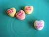 how nice for you, i'm sure. go home. (tamelyn) Tags: food hearts candy valentine conversation foryou gohome hownice imsure