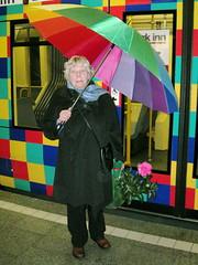 Colors everywhere... (2composers) Tags: park umbrella germany inn colorful cologne tram kln camelia checkerboard farbig kvb regenbogen strassenbahn parkinn sixt kamelie regenschirm paraplui chorweiler compositionsphotography