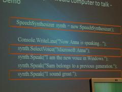 Speech in .NET