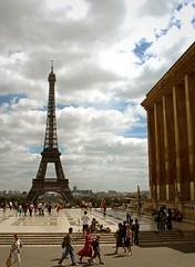 Paris in the summer (bekahpaige) Tags: summer paris france europe eiffeltower landmark tourists toureiffel trocadero