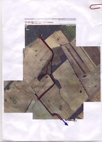 les closeaux - image satellite et chemins