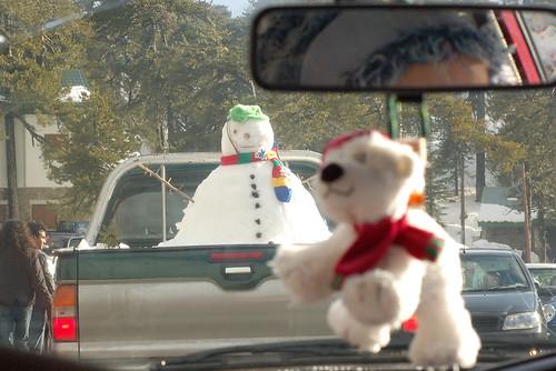 snowmobile? mobile snowman?