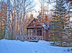 Little Cabin in the Woods (nature55) Tags: trees winter snow nature wisconsin outdoors cabin mercer upnorth nature55 wowiekazowie
