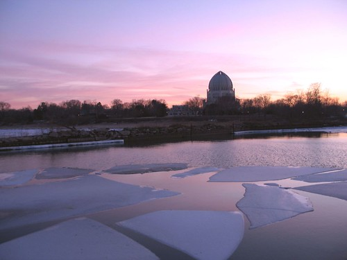 Bahai Temple and Ice