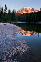 Last of the Season at Rainier (KPieper) Tags: mountain reflection fall nature sunrise landscape washington rainier pacificnorthwest mtrainier pnw kevinpieper kpieper kpieperphotography pieperphotographynet