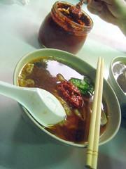 Street market noodles