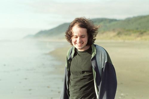 Jesse on the beach