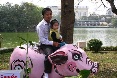 The first day of the Vietnamese Year is a quiet, happy family day